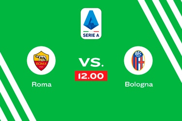 Roma vs. Bologna, domingo 12.00 horas