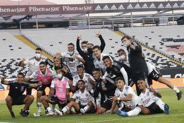 25 de Abril del 2021/SANTIAGO Plantel de Colo Colo ,durante el partido valido por la quinta fecha del Campeonato Nacional AFP PlanVital 2021, entre Colo Colo vs Universidad de Chile, disputado en el Estadio Monumental.