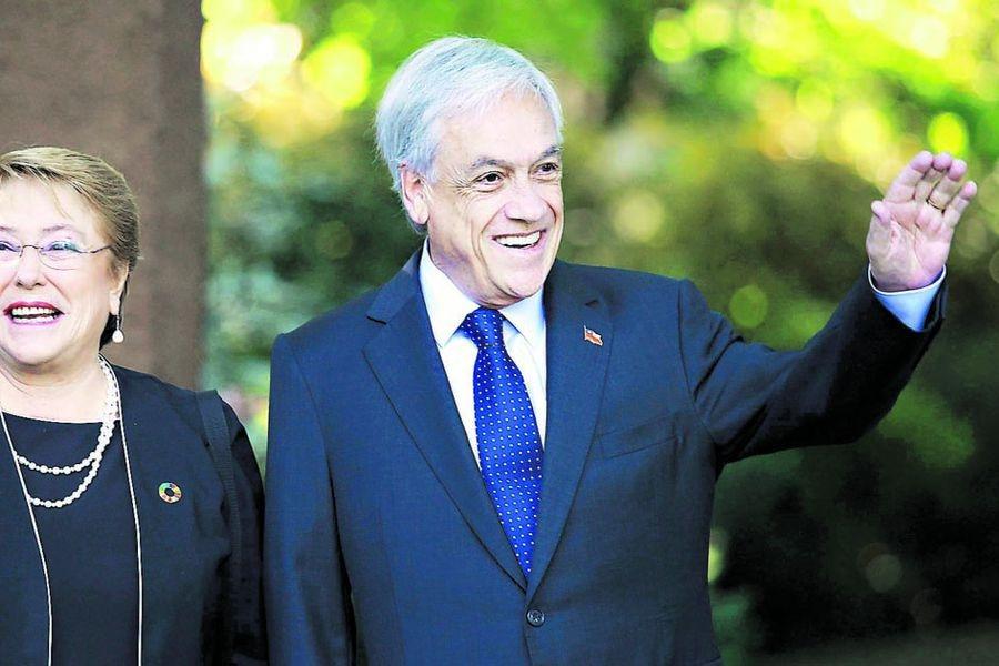 Michelle Bachelet visita a Sebastian Piñera