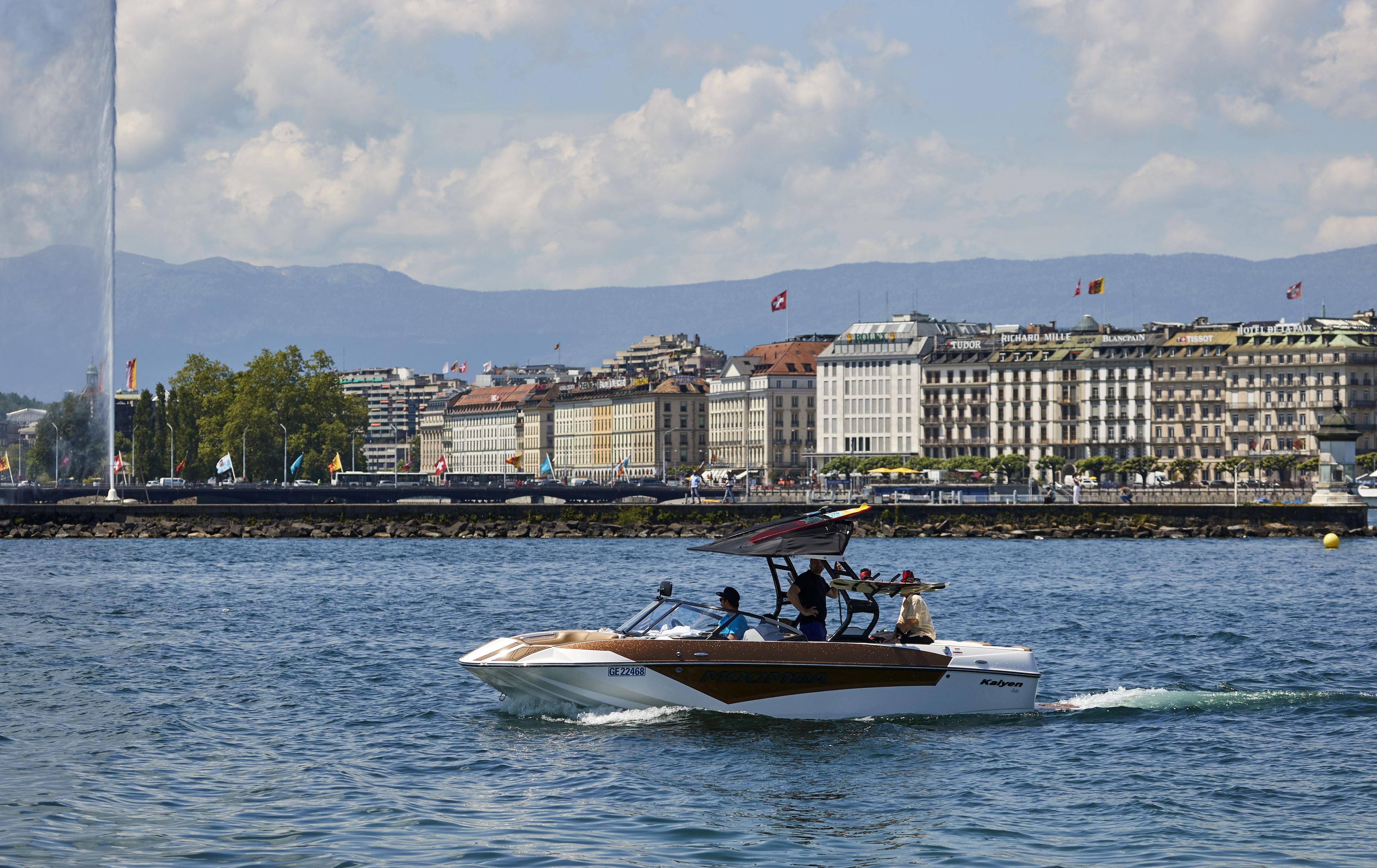 El lago Lemán en Ginebra, Suiza. Foto: Reuters