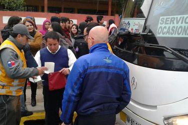 Fiscalización de buses
