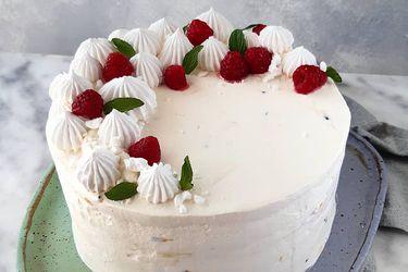 Torta helada de merengue y frutos rojos