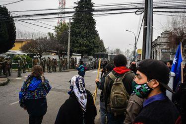 La Araucanía: manifestación en Temuco termina con 11 detenidos e incidentes en Lumaco dejan comuneros y carabineros heridos