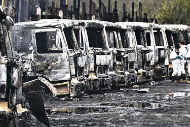 camiones Los Ríos atentado