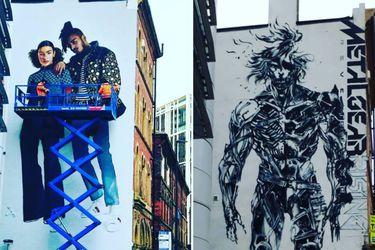 Borran mural de Metal Gear Rising que estaba en la ciudad de Leeds en Reino Unido