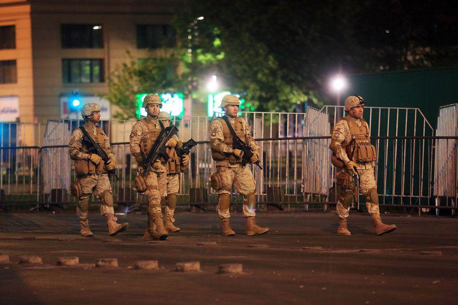 Militares en Santiago