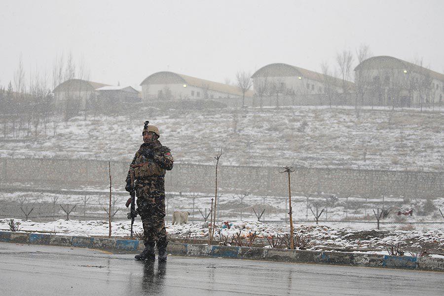 Militar en Kabul, Afganistán