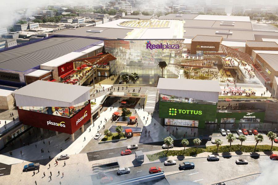 Centro comercial construido por Graña y Montero en Perú.