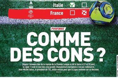 'Como idiotas?': la dura portada de L'Equipe por el fin anticipado del fútbol francés