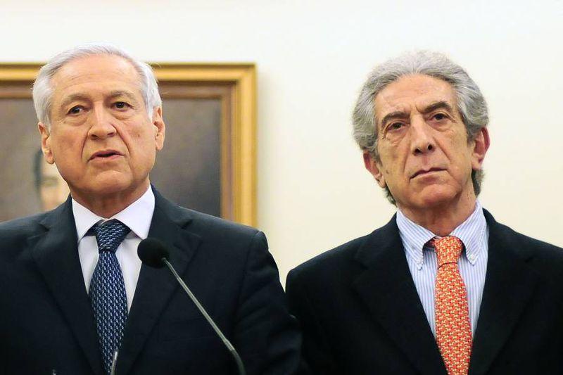 Heraldo Muñoz y Jorge Tarud, dos de los tres nombres que se han manifestado como cartas del PPD rumbo a la presidencia. El otro es Francisco Vidal.