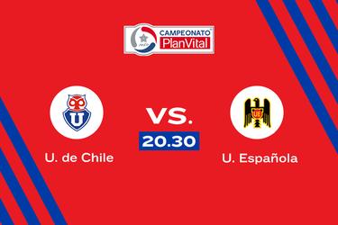 Universidad de Chile y Unión Española se enfrentan por la cuarta fecha del Torneo Nacional.