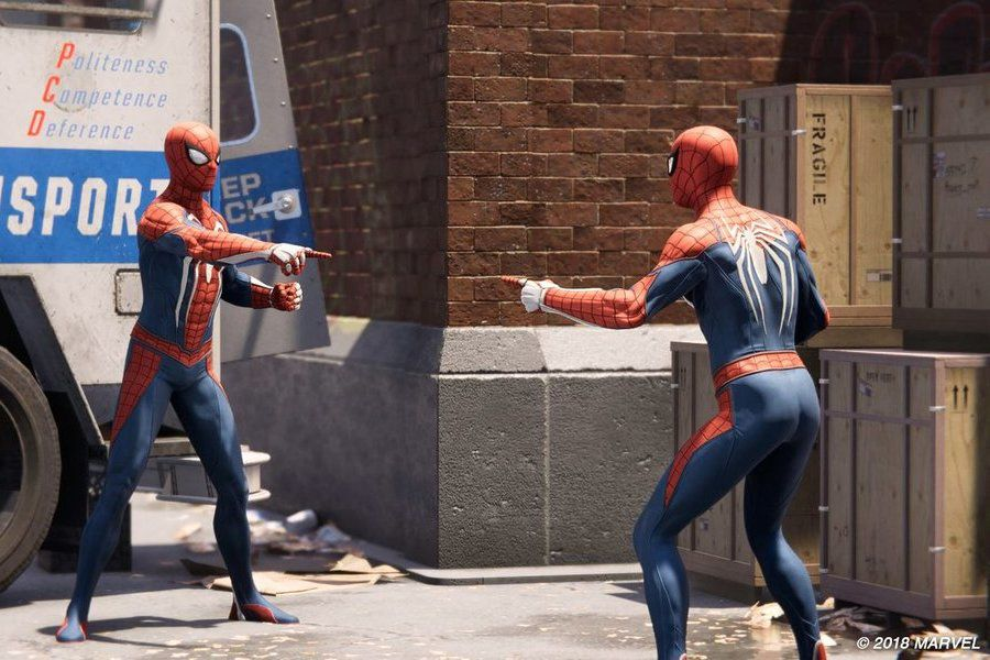 spider man ps4 meme