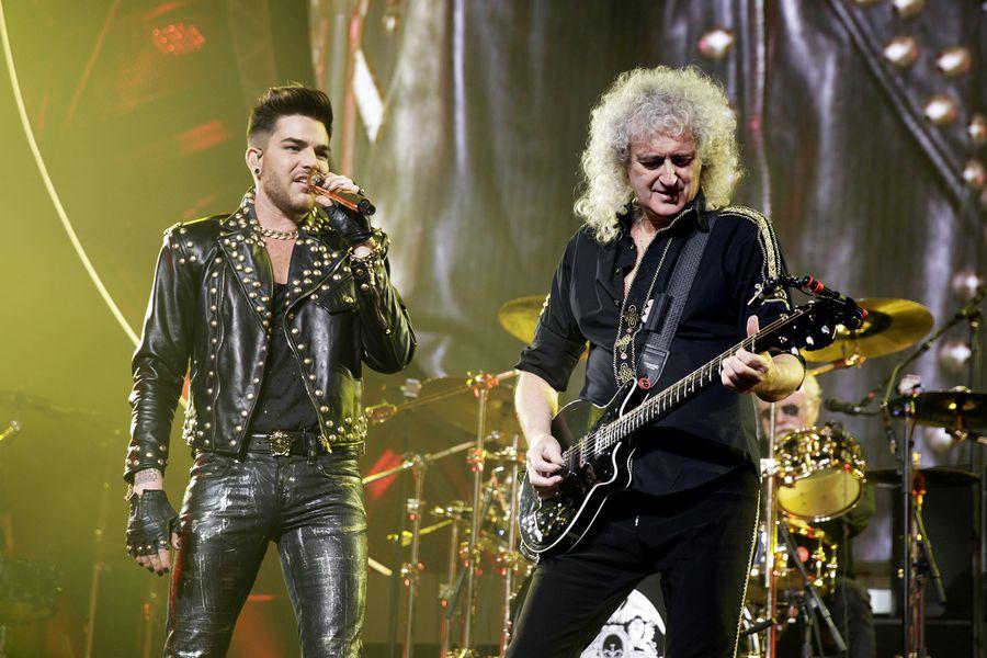 """Britische Rock-Band Queen gastiert mit Sänger Adam Lambert auf ihrer """"European""""-Tour in der Lanxess-Arena Köln"""