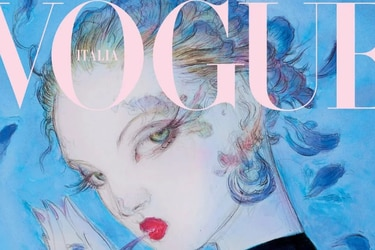 El artista de Final Fantasy Yoshitaka Amano realizó una portada para la revista Vogue