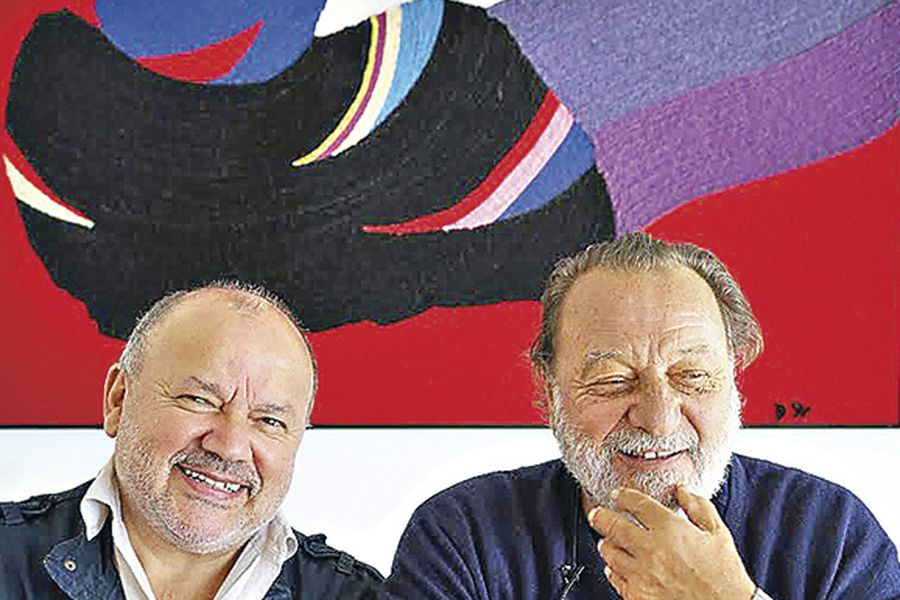Horacio Salinas  y Patricio Manns