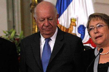 Michelle Bachelet y Ricardo Lagos