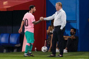 Messi hace sus primeros goles en la era Koeman