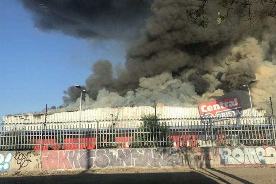 Incendio en San Bernardo