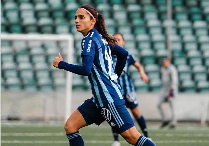 Daniela Zamora debutó con gol en su nuevo club.