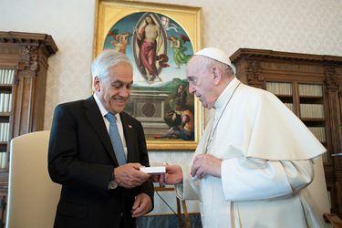Presidente Piñera sostiene audiencia con el Papa Francisco en el marco de su gira por Europa