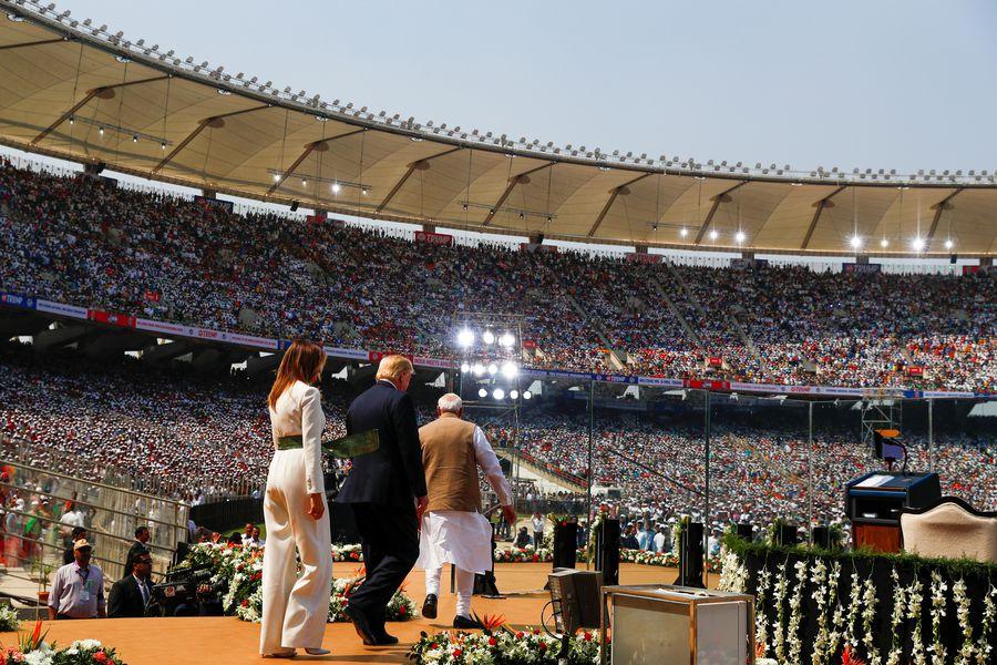 U.S. President Donald Trump and first lady Melania Trump tour India