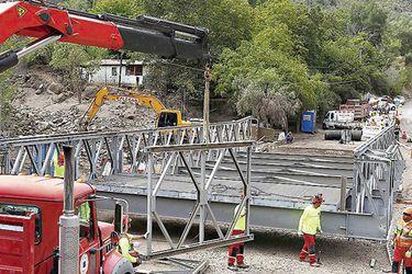 Puente Mecano, cajón del maipo