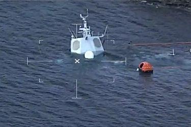 Así fue el hundimiento de la fragata noruega tras chocar a un petrolero