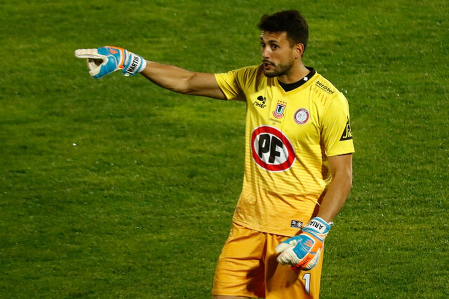 Arias durante el partido de La Calera frente a Wanderers.