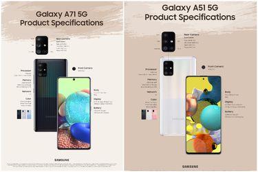Samsung anuncia las versiones 5G del Galaxy A71y A51