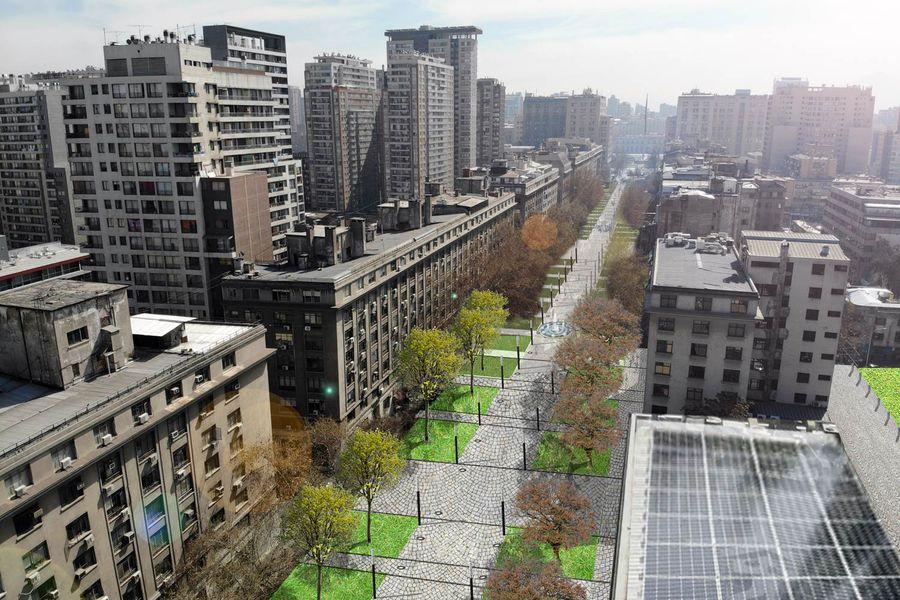 El proyecto de remodelación del Paseo Bulnes estaría finalizado en 2021.