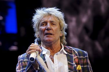 Rod Stewart performs at the Wal-Mart annual meeting in Fayetteville