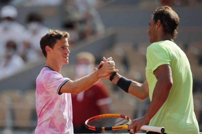 Rafael Nadal avanzó a las semifinales de Roland Garros después de superar a Diego Schwartzman.