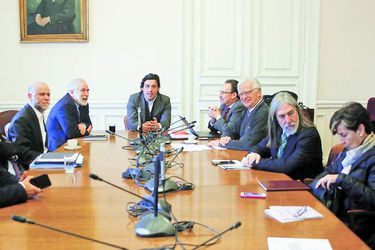 Jefes de bancada del Partido Socialista se reunen para discutir sobre la ley de pensiones