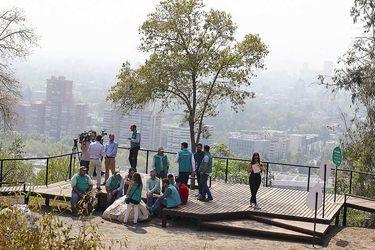 Santiago mirando al suroriente: la nueva terraza en Parquemet