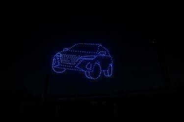 400 drones coordinados le dan la bienvenida al Nuevo Nissan Kicks