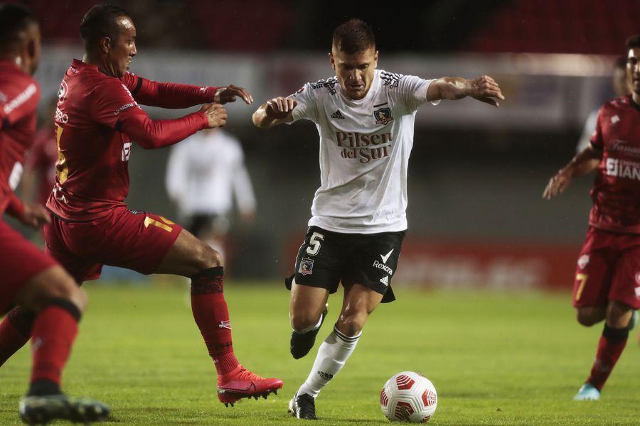 Leonardo Gil, durante la goleada de Ñublense por 5-1 ante Colo Colo. FOTO: Agencia Uno.