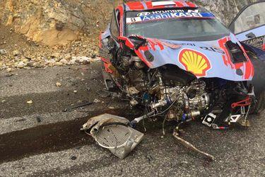 Ott Tanak, actual monarca de la WRC, sufre estrepitoso accidente en Montecarlo