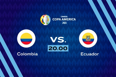 Colombia vs. Ecuador, 20.00 horas