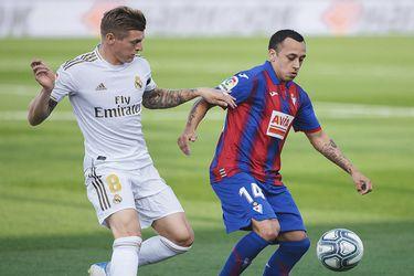 El Eibar de Orellana cae ante el Real Madrid y extiende su mala racha en la liga española